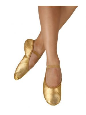 Adult Metallic Leather Ballet Shoes