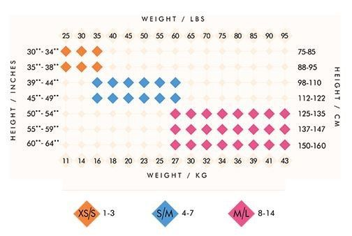 BodyWrappers Size Chart: Tights